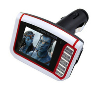 "1. 8"" LCD Car MP3 MP4 Player Wireless FM Transmitter with Remote SD MMC Card"