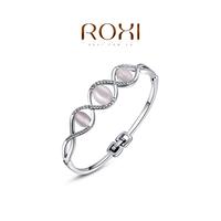 ROXI 2014 New Fashion Jewelry Platinum Plated Statement Elegant Three Opals Bracelets For Women Party Wedding Free Shipping