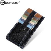 Organizer wallet genuine leather cowhide credit card holder men slim wallet male cash holder fashion man purse K822/K824
