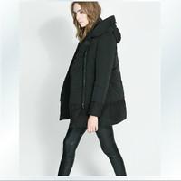 2013 plus size winter wadded jacket women's cotton-padded jacket fashion medium-long cotton-padded jacket outerwear female