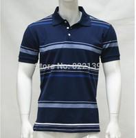 2014 News Men Collar Striped Polo Shirt Casual Classic Shirt Men Cotton Shirt For Men Free shipping Sports Men shirts