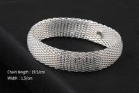 GSSPB008 Silver Bracelet Plated Valentine's day gift Summer wave high quality round net fashion wedding jewelry