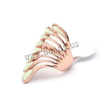 Free shipping!!!Zinc Alloy Finger Ring,Wholesale Lot, Wing Shape, rose gold color plated, enamel, nickel, lead & cadmium free