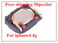50Pcs/Lot  Free Shipping Wholesale 100% Perfect New Earphone Receiver Replacement Part Earpiece Receiver For iPhone 4 4g