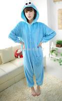 New Arrival Sesame Street Anime Cosplay Animal Costume Cartoon Pajamas Adult  Animal Costume Onesie Women Jumpsuit Free Shipping