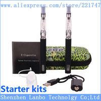New arrival !ego e-cigarette double kit ego CE4 e cigarette e cig atomizer 1.6ml ce4+ecigarette battery usb ego ecigs wholesale