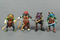 4pcs a Set Teenage Mutant Ninja Turtles Movie Leonardo/Michelangelo/Donatello/Raphael loose Figure