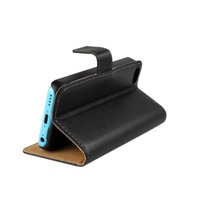 Stand Wallet Leather Case For iphone 5C With Credit card holder 1pcs Free Shipping
