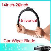2pcs/lot 2013 Universal Soft Frameless Car Windshield Wiper Blade 14 Inch-26inch wholesale Drop shipping hot sale boy toy
