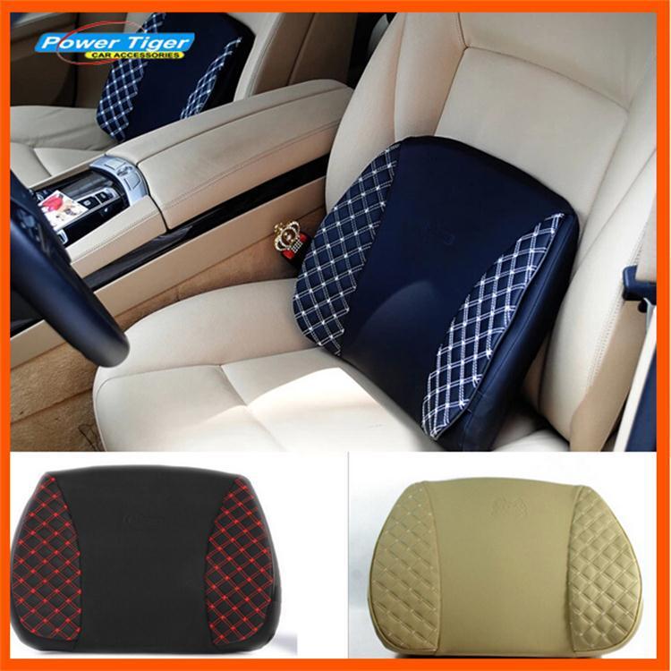 New 2014 3 colors Car Lumbar Cushion Car Seat Chair Massage Back Lumbar Support pillow car styling lumbar pillow auto supplies(China (Mainland))