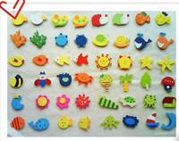 Cheap 120pcs/lot wood Fridge Magnets Baby toy yakuchinone wool cartoon refrigerator stickers animals free shipping