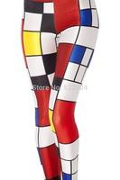 ZCXR Women Leggings color blocks 3d print Girl's Sexy Leggings High Elastic Skinny Pants Quick Dry Plus size Women yoga Pants