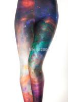 ZCXR Women GalaxyRainbow Leggings 3d print Girl's Sexy Leggings High Elastic Skinny Pants Quick Dry Plus size Women yoga Pants