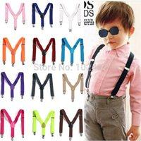 New Children Kids Boy Girls Toddler Clip-on Suspenders Elastic Adjustable Braces
