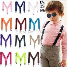 New Children Kids Boy Girls Toddler Clip-on Suspenders Elastic Adjustable Braces(China (Mainland))