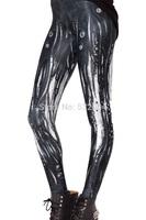 ZCXR Women Bone Leggings 3d print Girl's Sexy Leggings High Elastic Skinny Pants Quick Dry Plus size Women Lady Pants