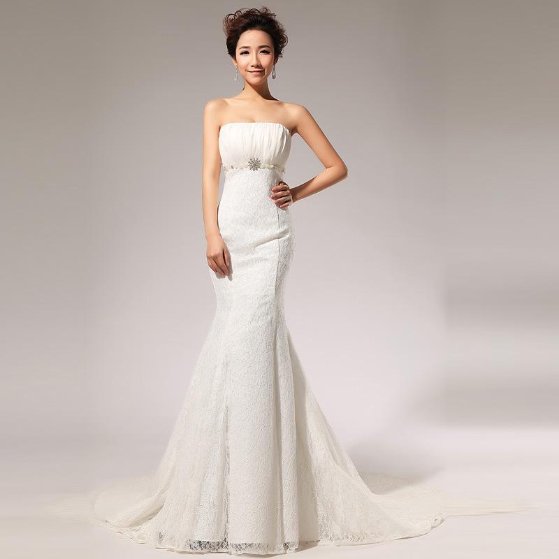 Diamond Fishtail Wedding Dresses : Aliexpress buy korean fashionable princess wedding