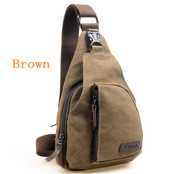 men's leisure chest small sports canvas male package bag multi-functional outdoor ...
