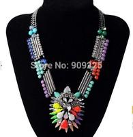 New Arrival Luxury Multi Color Shourouk Statement Women Fashion Wholesale Short Necklace.