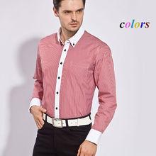 venda quente roupas masculinas camisa de manga comprida homens algodão luxo moda formal camisas xadrez casual masculino slim fit roupas de homem(China (Mainland))