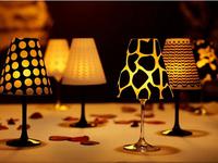 12 Wine Glass SHADES by David Tutera Vellum SWIRL WEDDING Party Table Decoration