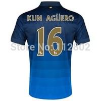 Kun Aguero Away Jersey 14/15