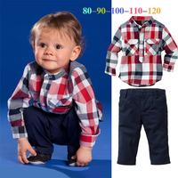 Retail kids boys clothes set t-shirt + pants two-pieces suit children's apparel