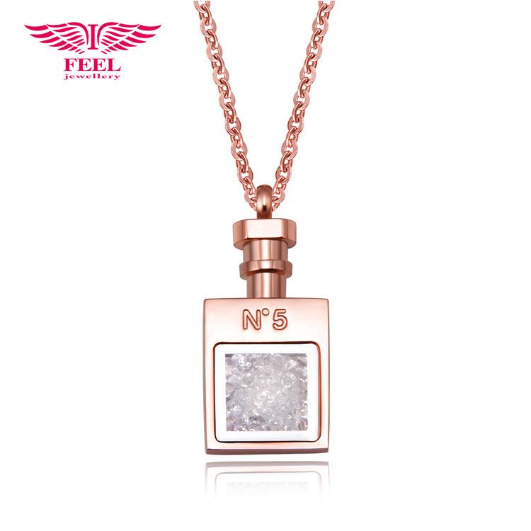 2014 nova alta qualidade pequeno vidro de Murano Pingente Colares Perfume Essential Oil Vial Chain Link Jóias Para Mulheres grátis Shiping(China (Mainland))