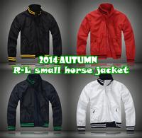 R-L small horse causal Jacket/2014 autumn Handsome Men original Polo Activel casual Polo jacket/long sleeve windbreak Jacket