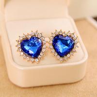 FREE SHIPPING Hot Sale Alloy  Heart Earrings,E3661