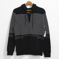 New autumn Korean brand on the bays general fleece male zipper hooded cardigan jacket fashion men sweatshirt stripe hoodies