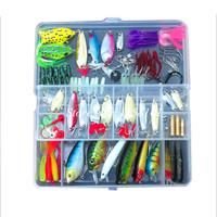 Hot Sell! 108pcs/set plastic fishing lures Kit set with big 2-layer retail box assorted fishing bait kit fishing tackle freeship