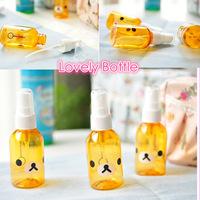 Free shipping 3pcs/lots, New Lovely Little Bear Portable Empty Bottle Liquid Makeup Refillable Bottles 100ml