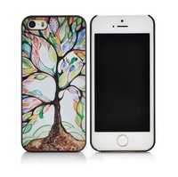 New arrival cute cartoon The Tree of Life pattern hard Cover case for apple iphone 5 5S PT1274