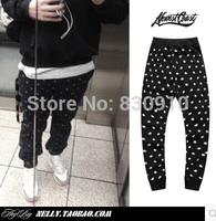 2014 mens sweatpants pants brand sports fashion design of Cashew flowers casual trousers XXXL , plus size