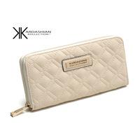 2014 New Kk Women Solid Pu Hot-selling Hasp Purse Long Design Wallet / Kim Kardashian Kollection Women's Block Promotion Kkw6
