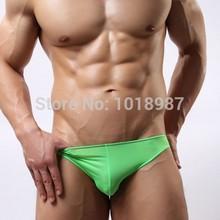Free shipping HOT sale 3pcs NEW brand men's briefs 6 color Ice silk L XL low-waist underwear men breathable gay underwear(China (Mainland))