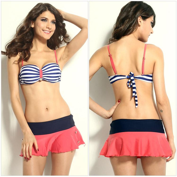 2015 explosion models tankinis swimsuits women plus size cute swimwear