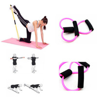 Resistance Training Bands Tube Workout Exercise Yoga 8 Type Fashion Body Building Fitness Muscle Arm Tubes Equipment Tool