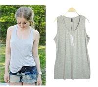 4XL Vest 2014 New Fashion Summer Autumn Modal Cotton Elastic Plus Size Tank Tops For Women 2 Colors High Quality ! 797