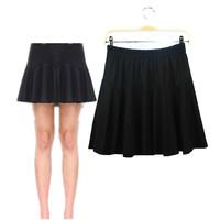 Fashion Plus Size Women Skirts 2014 New Fat Women's Summer Autumn Pleat Big Size Elastic Waist Slim Black Skirt Hot Sale ! 749