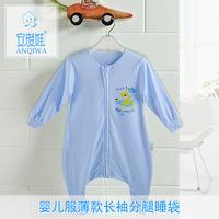 Hot sale wholesale baby boys girls long sleeve sleeping bags newborn bebe clothing cotton romper AK57 free shipping