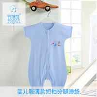 Hot sale wholesale summer baby boys girls short sleeve sleeping bag infant bebe clothing AK58
