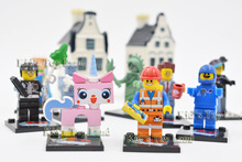 10pcs/lot The Movie Biznis Kitty cat Wyldstyle statue of liberty minifigures block toys,The Movie characters block toys for lego(China (Mainland))