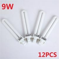 Free Shipping Wholesale 12pcs/Lot 36W UV Lamp 9W Bulbs Tube for Nail Dryer Nail Art UV Gel Machine Lamp Kits