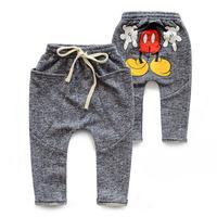 Autumn 2014 new children's clothing Korean cartoon  child boy pants casual pants harem pants baby trousers