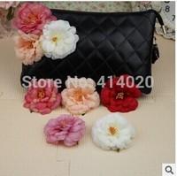 100Pcs/Lot Wholesale New Arrival  7Cm Big Size Top Silk  Rose Flower  Head  Home Wedding Decoration Flower Head Band Diy