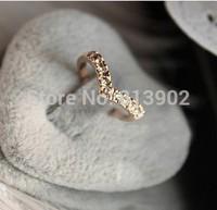 Free Shipping Fashion Cute New Design Full Shiny Heart V-shaped Rhinestone Women Jewelry Gift 10pcs/lot