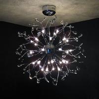 Diameter 75cm  Low iron crystal lamps lighting the living room chandelier bedroom lamp bends light