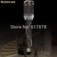 Maibo modern luxury duplex villa hall staircase chandelier crystal lighting living room lamps Diameter 60 high 250cm